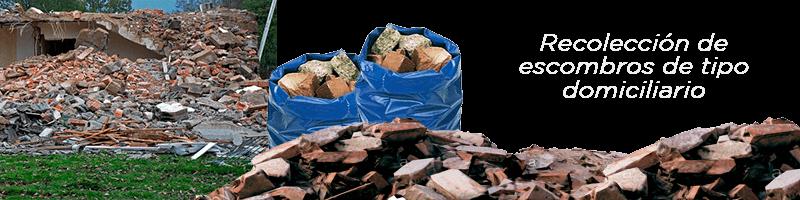 Recolección de escombros de tipo domiciliario